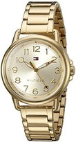 Tommy Hilfiger Women's Casey Quartz Gold-Plated Casual Watch (Model: 1781656)