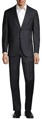 Corneliani Standard-Fit Textured Wool Suit