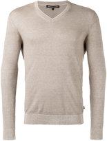 Michael Kors classic v-neck jumper - men - Cotton/Linen/Flax - L