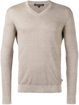 Michael Kors classic v-neck jumper - men - Cotton/Linen/Flax - S