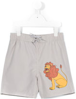 Mini Rodini Lion Sp swim shorts - kids - Recycled Polyester - 3 yrs