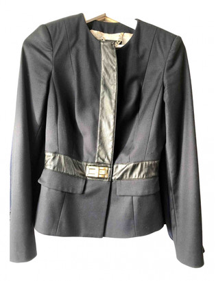 Elisabetta Franchi Blue Leather Jackets