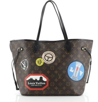 Louis Vuitton Neverfull NM Tote Limited Edition World Tour Monogram Canvas MM