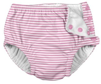 I Play Baby and Toddler Girls Snap Reusable Absorbent Swimsuit Diaper