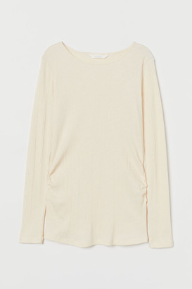 H&M MAMA Ribbed jersey top