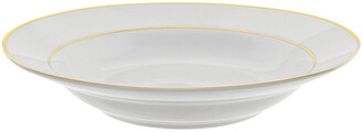 Ten Strawberry Street Double Gold Rimmed Set Of 6 9In Soup Bowls