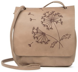 Hobo Billow Embroidered Leather Crossbody Bag