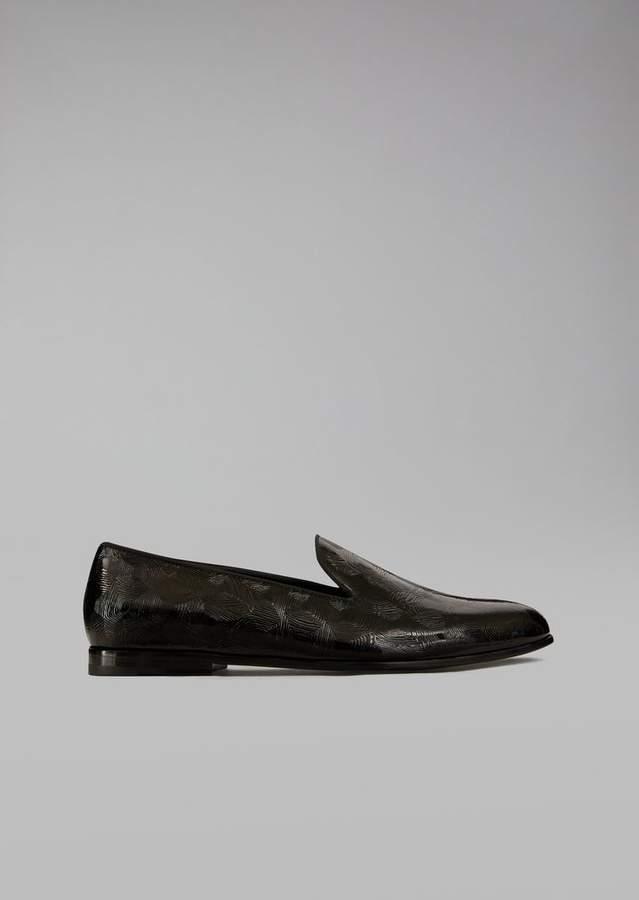 Giorgio Armani Optical Leather Loafers