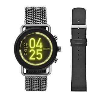 Skagen Touchscreen & Men's 22mm Leather Casual Watch Strap