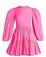 Valentino Women's Puff-Sleeve Mini Ruffle Dress