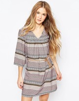 Vero Moda Boho Printed Belted Dress