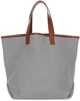 Lafayette 148 New York Striped Tote & Pouch Set