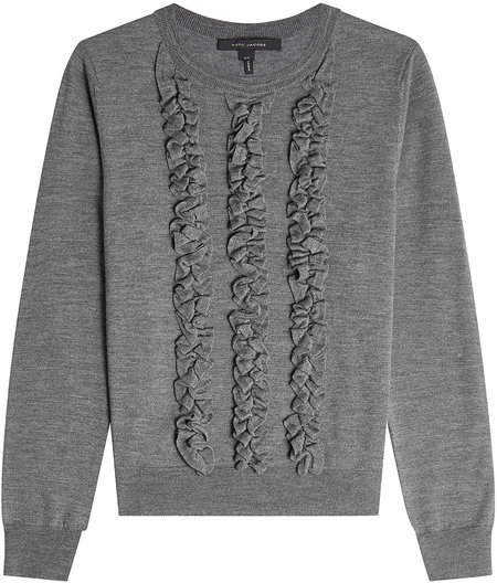 Marc Jacobs Wool Pullover with Ruffles
