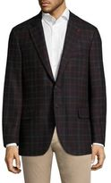 Isaia Checked Wool Jacket