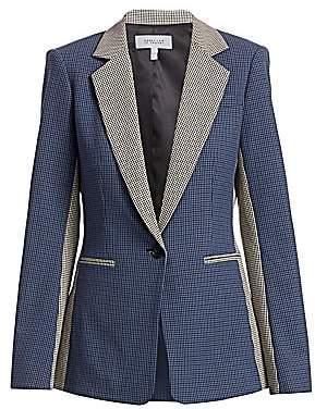 Derek Lam 10 Crosby Women's Bowery Colorblocked Check Tailored Blazer - Size 0