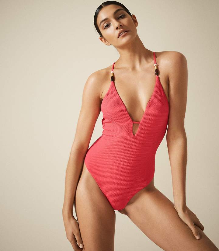 a109c28abf600 One-piece Swimsuit Cross Back - ShopStyle