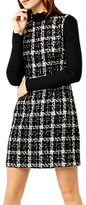 Warehouse Tweed Check Dress, Multi