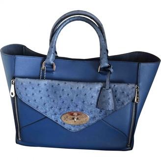 Mulberry Willow Blue Ostrich Handbags