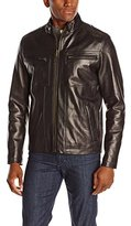 Cole Haan Men's Smooth Leather Sport Moto Jacket