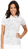 Lacoste Short Sleeve Geometric Printed Technical Polo Shirt