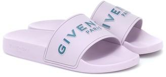 Givenchy Logo rubber slides