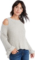 Sole Society Fuzzy Open Shoulder Sweater