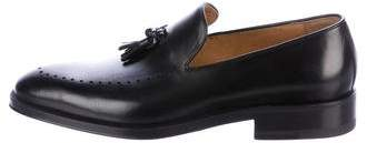 Gucci Leather Tassel-Accented Loafers