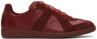 Maison Margiela Burgundy Replica Sneakers