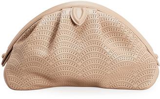 Alaia Samia 26 Laser-Cut Leather Clutch Bag
