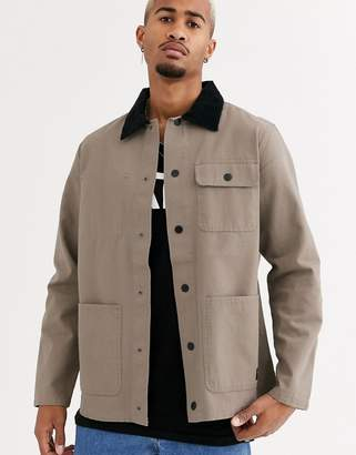 Vans Drill chore coat in beige-Black