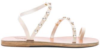 Ancient Greek Sandals Leather Apli Pearls Sandals