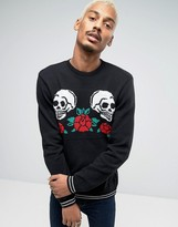 Asos Sweater with Skull and Hearts