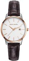 Pierre Cardin Women's Brown Leather Band Steel Case Quartz Watch Pc901742f04