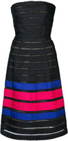 Oscar de la Renta horizontal stripe effect dress