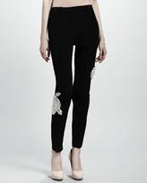 Lanvin Rose Applique Tunic, Black
