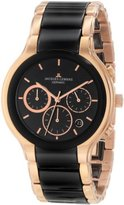 Jacques Lemans Men's 1-1580C Dublin Classic Analog Chronograph with HighTech Ceramic and Sapphire Glass Watch