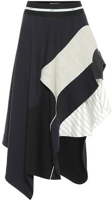 Monse Stretch-wool midi skirt