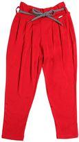 Junior Gaultier Viscose Jersey Pants W/ Shoestring Belt