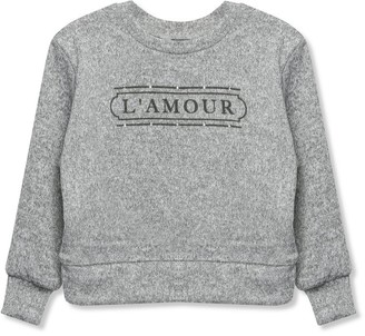 M&Co Diamante slogan jumper (3-12yrs)