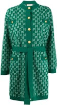 Gucci GG print belted cardigan