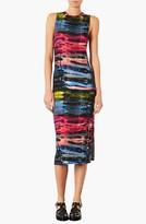 Topshop 'Electric Ray' Midi Dress