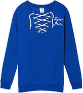 PINK University Of Memphis Lace-Up Campus Crew