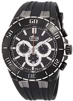 Lotus R Men's Quartz Watch with Black Dial Chronograph Display and Black Rubber Strap 15802/3