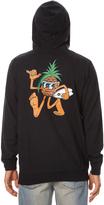 RVCA Pineapple Man Mens Zip Hood Black