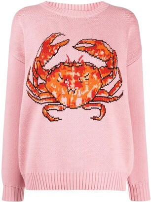 Casablanca Crab intarsia sweater