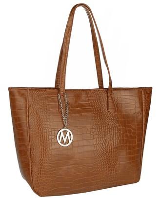 Mkf Collection By Mia K. MKF Collection by Mia K. Women's Handbags - Brown Croc-Embossed Tote
