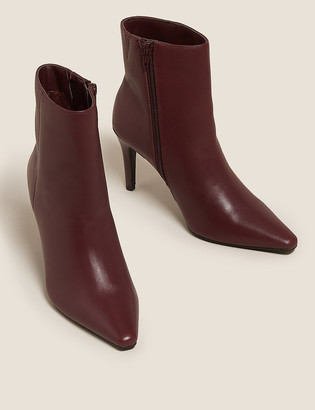 Marks and Spencer Leather Stiletto Heel Ankle Boots
