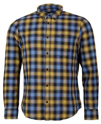 Lee Sustainable Button Down Check Shirt Colour: Frost Blue, Size: SMAL