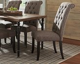 Signature Design by Ashley Ashley Furniture Signature Design - Tripton Dining Room Chair - Vintage Casual Upholstered Chair - Set of 2 - Graphite