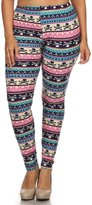 Leggings4U Women's Colorful Tribal Arrow Decal Print Plus Size Fashion Leggings